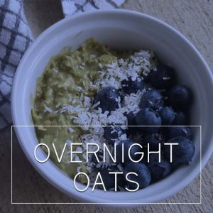 Overnight Oats, Western Fuel Bar, Menu. Housemade